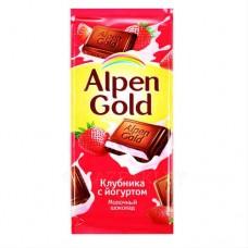 """Шоколад """"Alpen Gold """",  клубнично йогуртовый."""