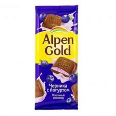 """Шоколад """"Alpen Gold """",  чернино йогуртовый."""