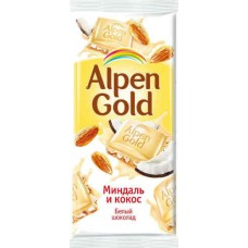 Шоколад  Alpen Gold миндаль и кокос.