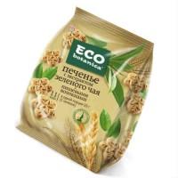 Печенье с экстрактом зеленого чая и пищевыми волокнами. Eco - botanica.
