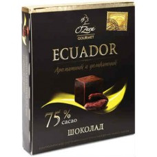 Шоколад «O`Zera» Ecuador 75 % .