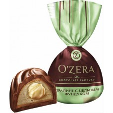 Конфеты O'Zera с цельным фундуком.