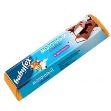 Шоколадный батончик BabyFox с молочной начинкой.